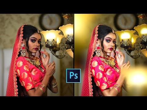 High End Portraits Retouching with Photo Effects!   Photoshop Bride Edit...