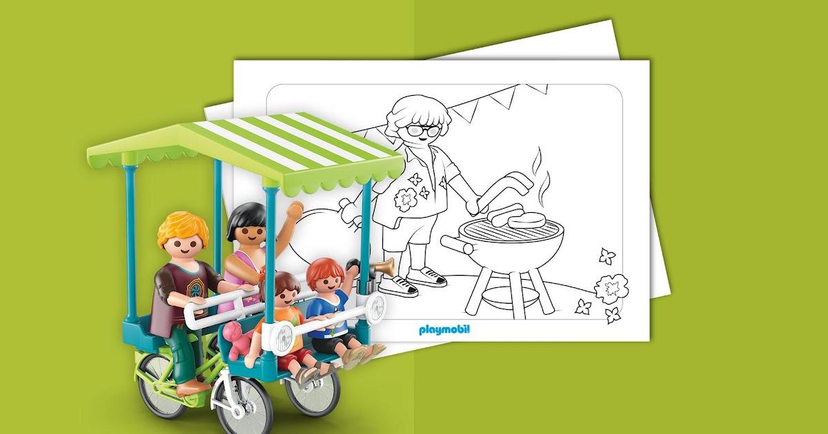 playmobil ausmalbilder familie hauser  playmobil film