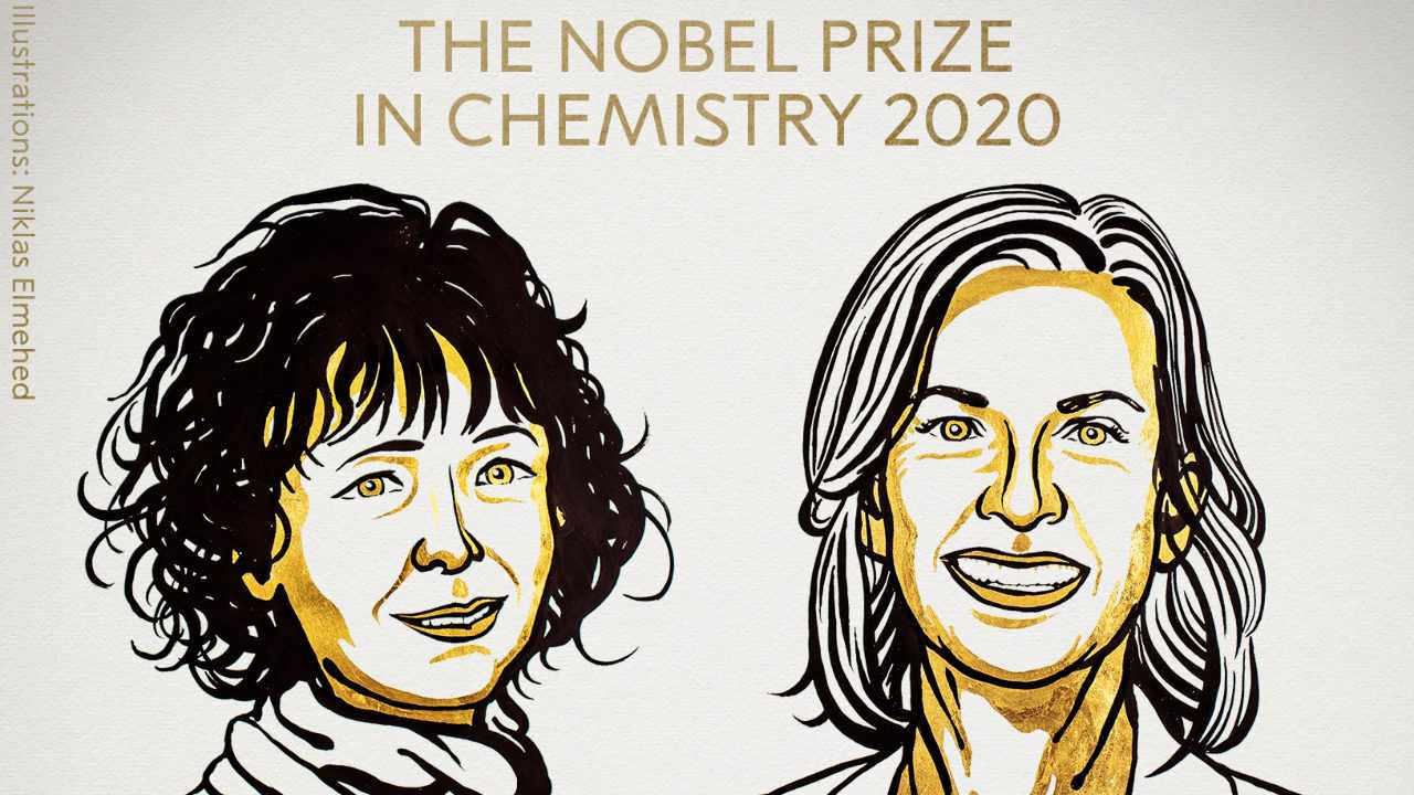 The Nobel Prize in Chemistry has been awarded to Emmanuelle Charpentier and Jennifer A. Doudna. Image credit: Twitter
