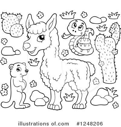 Llama Clipart #442026 - Illustration by toonaday