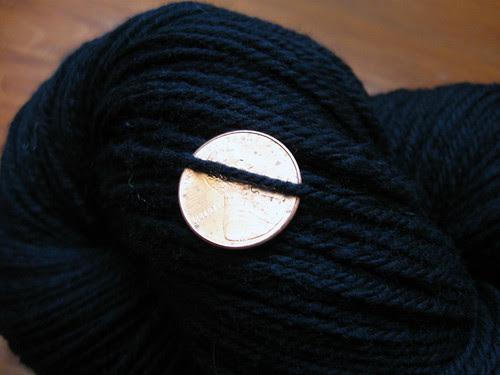 Black Merino handspun