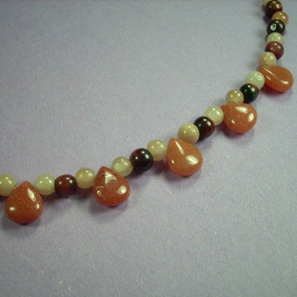 photo of bead woven necklace