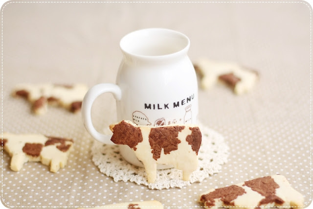 Cow-Patterned Cookies