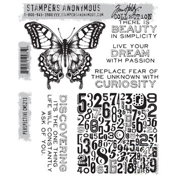 Tim Holtz Cling Rubber Stamps 2015 PERSPECTIVE cms213