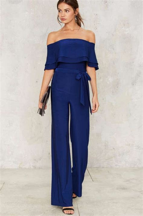 shoulder jumpsuit clothes