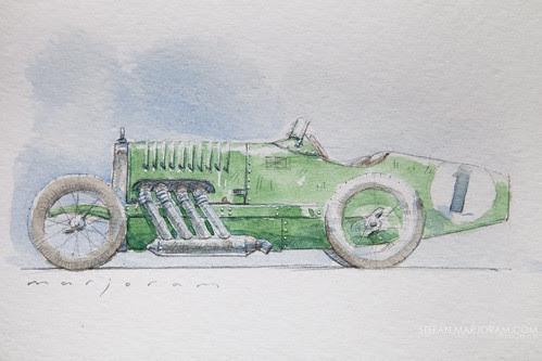 watercolour car sketch by Stefan Marjoram