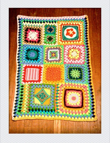 how to make a granny square afghan