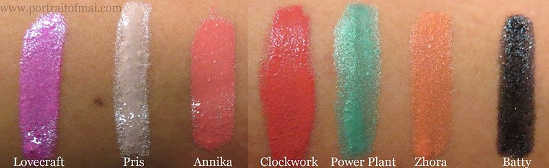 Obsessive Compulsive Cosmetics Sci Fi Lullabies Collection Swatches