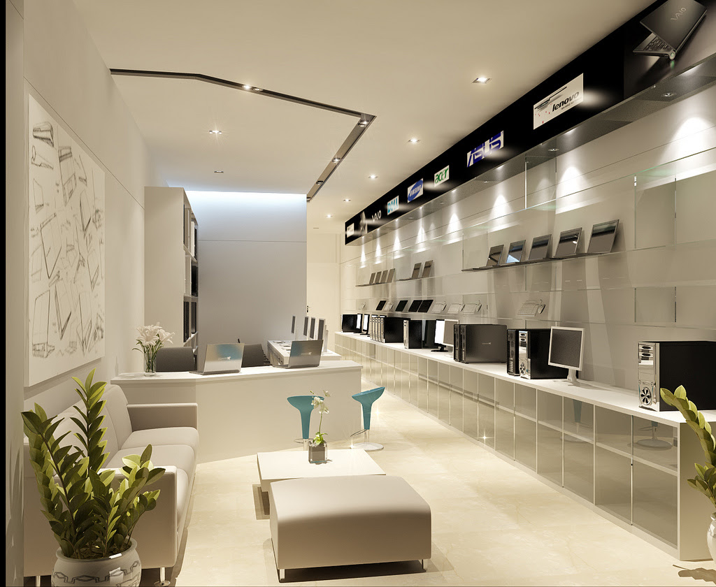 computer store interior design   Interior Design Ideas.