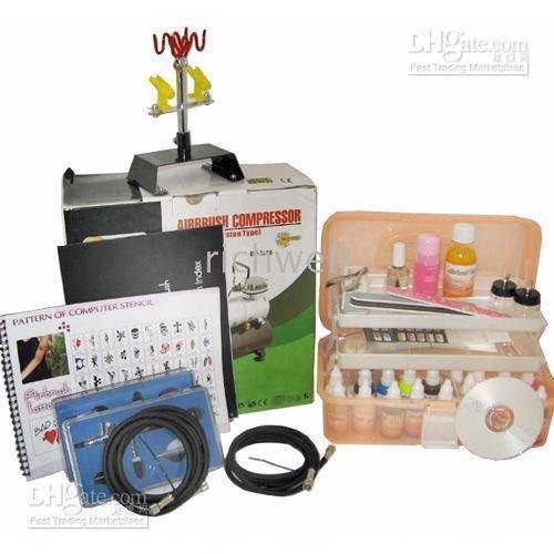 Wholesale - Compressor Stencil Paint Nail 186 airbrush tattoo machine