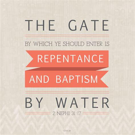 repentance  baptism