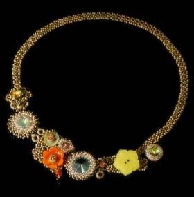 Jill Devon Buttoned Up Necklace