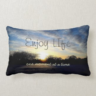 Inspiring Life Moments Quote Throw Pillow mojo_throwpillow