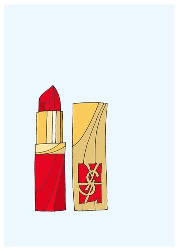 YSL lipstick 5x7