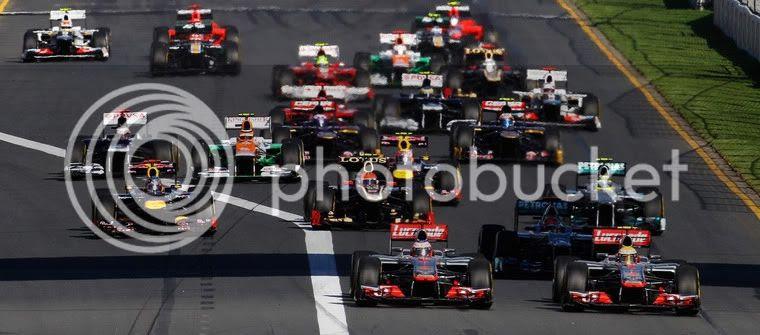 Salida GP de Australia 2012