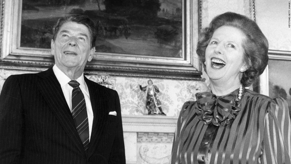 Image result for thatcher and reagan