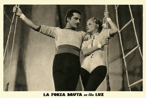 Germana Paolieri and Rossano Brazzi in La forza bruta