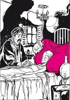 Resultado de imagen para cuentos de amor de locura y de muerte el almohadon de plumas