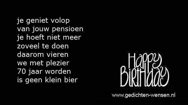 Favoriete Gedicht 70 Jaar Verjaardag | Verjaardag &ZI52
