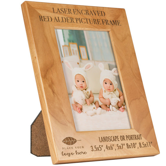 Personalized Red Alder Picture Frame Plaquemakercom