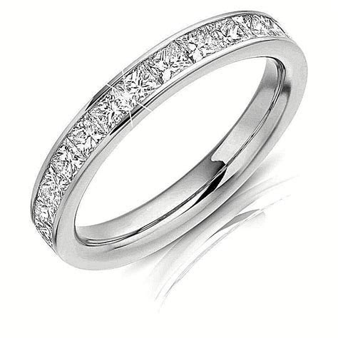 1 Ct Princess Cut Eternity Diamond Women's Engagement