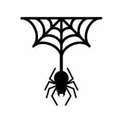 蜘蛛シルエット イラストの無料ダウンロードサイトシルエットac