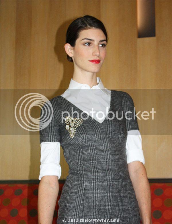 plaid Prada sheath dress