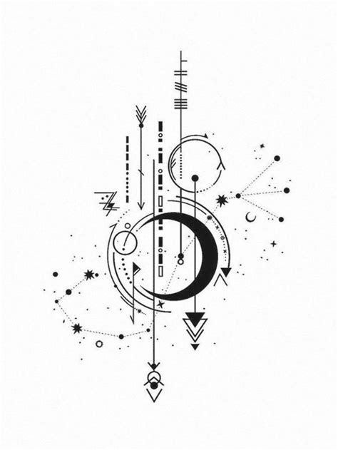 awesome geometric tattoo geometrie vsagittarius tattoo