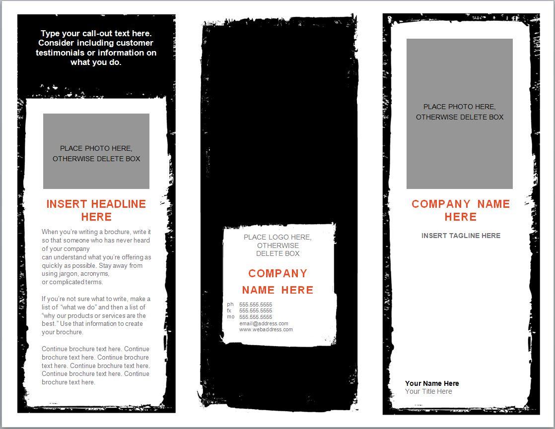 Word Brochure Template
