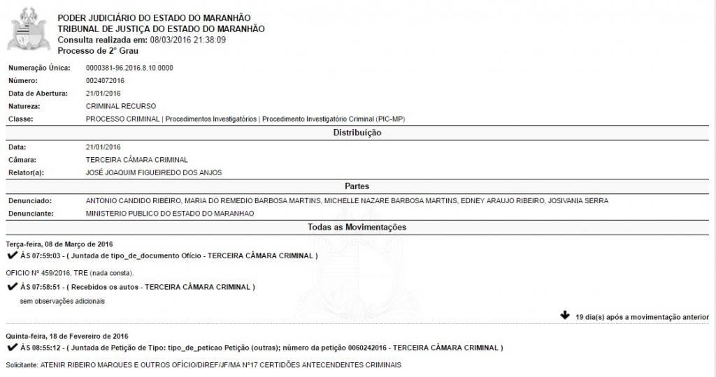 Processo contra prefeito de Santa Rita teve sua ultima movimentação no Tribunal de Justiça, nesta terça-feira, dia 8 de março