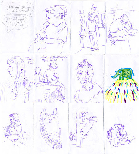 July 2012: Drawing with kids in the Stanford Museum by apple-pine