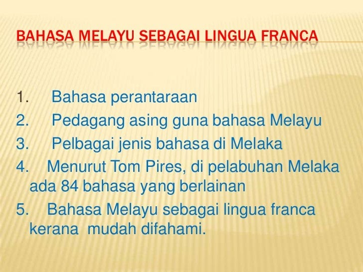 Terbaru Bahasa Indonesiasebagai Lingua Franca