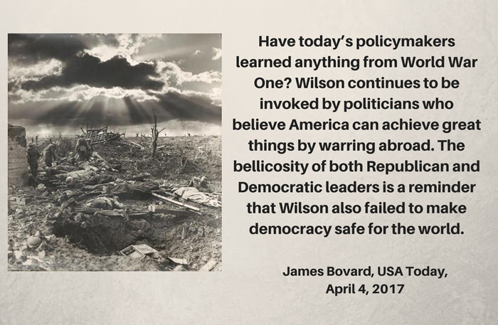 World War One Quote Jpegs From Usa Today Article James Bovard