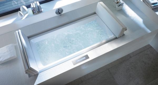Duravit- White massage space inset window come spa