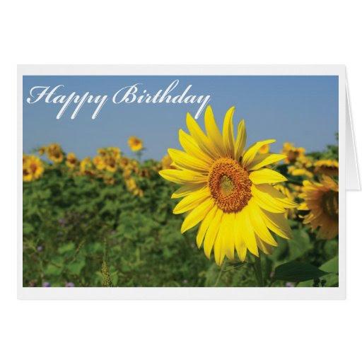 Happy Birthday Sunflower Greeting Card | Zazzle