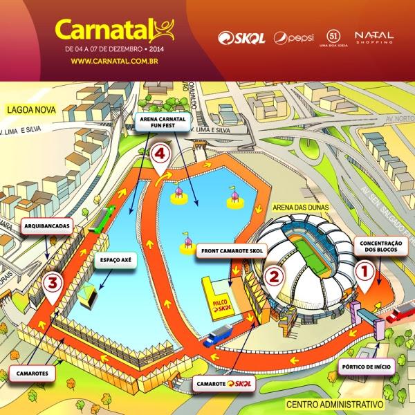 Mapa Oficial Carnatal 2014