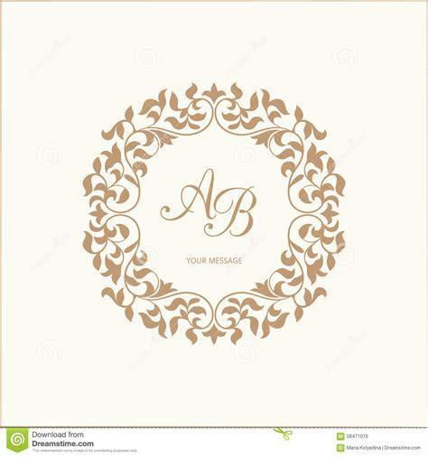 Monogram stock photo. Image of fine, insignia, emblem