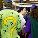 The Riddler and his companion bought a copy of our book