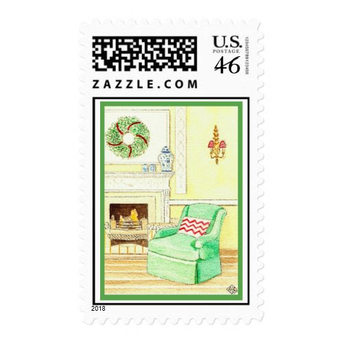 Holiday Fireside Stamp stamp