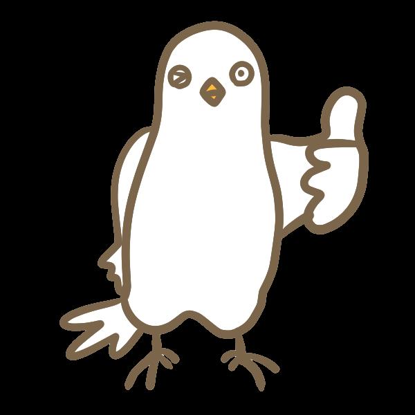 ユルい鳥いいねのイラスト かわいいフリー素材が無料のイラストレイン
