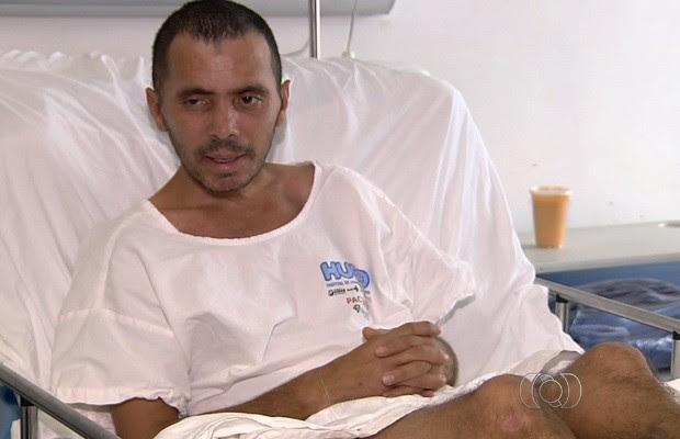 Hospital de Goiânia, Goiás, procura famílias de maranhenses internados no local (Foto: Reprodução/TV Anhanguera)