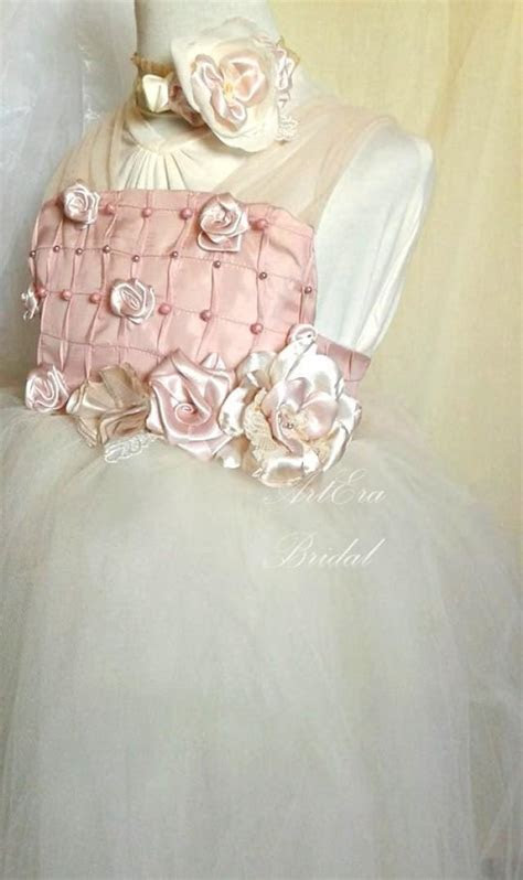 Couture Vintage Style Wedding Dress 6 7 Old Girl, Flower