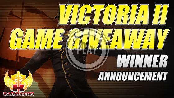 Victoria II STEAM Game Giveaway ★ Winner Announcement