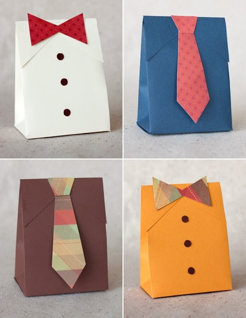 DIY Father´s Day Bags. Instructions and Templates.