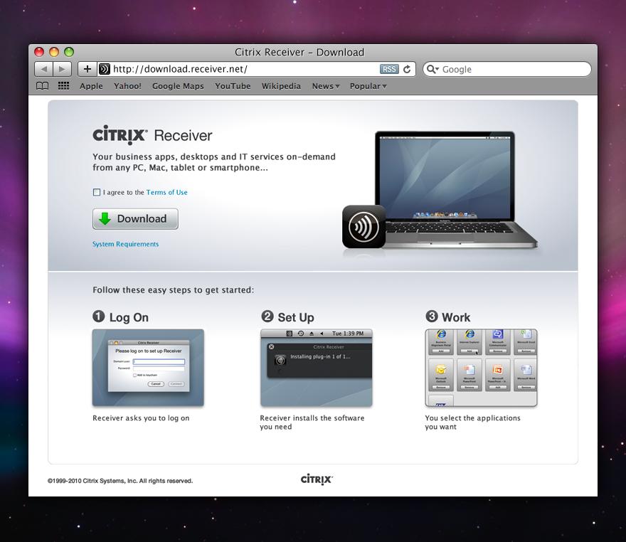 Download From Warez: DOWNLOAD CITRIX RECEIVER MAC