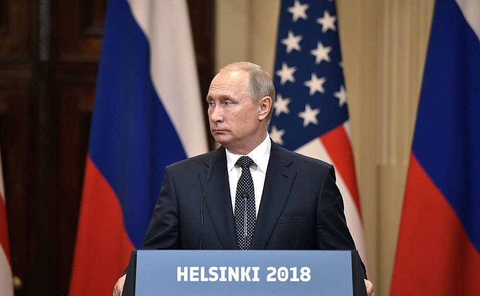 During news conference following talks between the presidents of Russia and the United States.