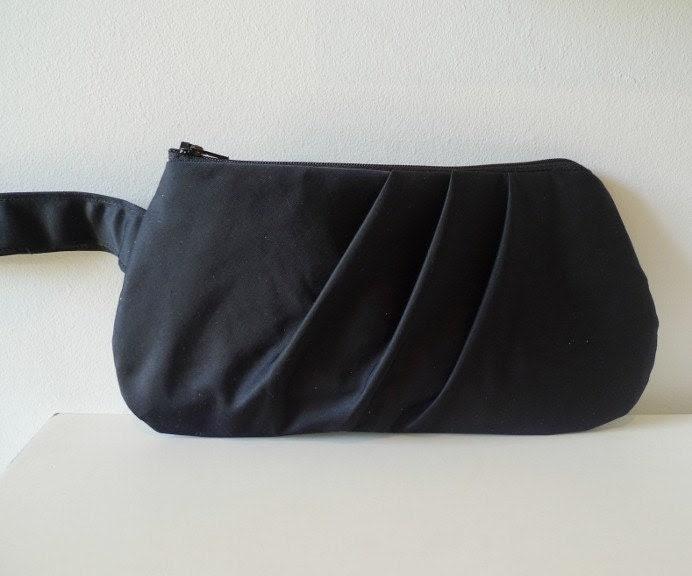 pleated clutch purse