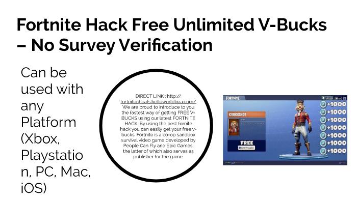 Fortnite Free V Bucks Generator No Human Verification