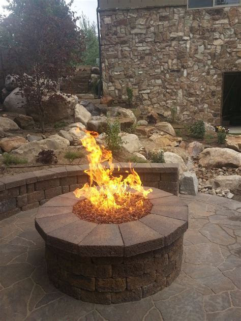 Landscaping in the backyard in Utah, Custom Paver Belgard