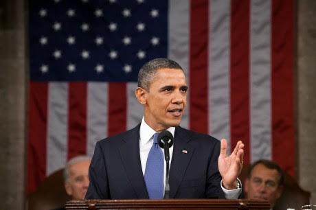 Barack Obama dando un discurso - Dominio Público